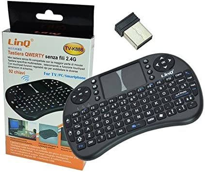 Teclado Mini Inalámbrico Linq tv-k888 con ratón Touch Pad para Smart TV PC Smartphone: Amazon.es: Electrónica