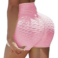 SEASUM Women Workout Scrunch Butt Short Pants Fitness Yoga Casual Leggings High Waist Gym Bottom