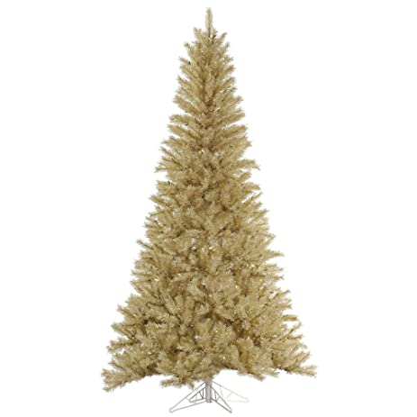 vickerman unlit whitegold tinsel artificial christmas tree 65 x 42 - White And Gold Christmas Tree