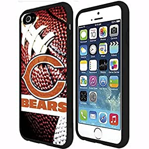 Chicago Bears Football Sports RUBBER Snap on Phone Case (iphone 4 4s )