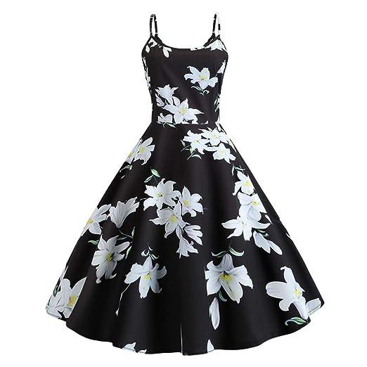 8ada9c514b Women's Summer Boho Strappy Dress 2019 New Floral Printed Long Maxi Party Beach  Dresses Black