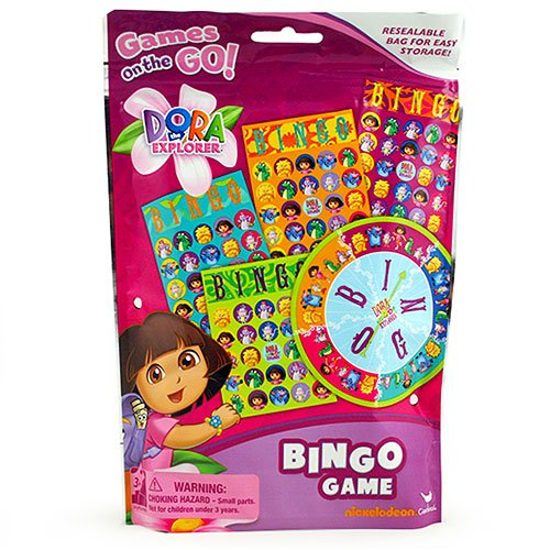 Game The Explorer Board Dora (Dora The Explorer 14491 Bingo Game Resealable Bag)