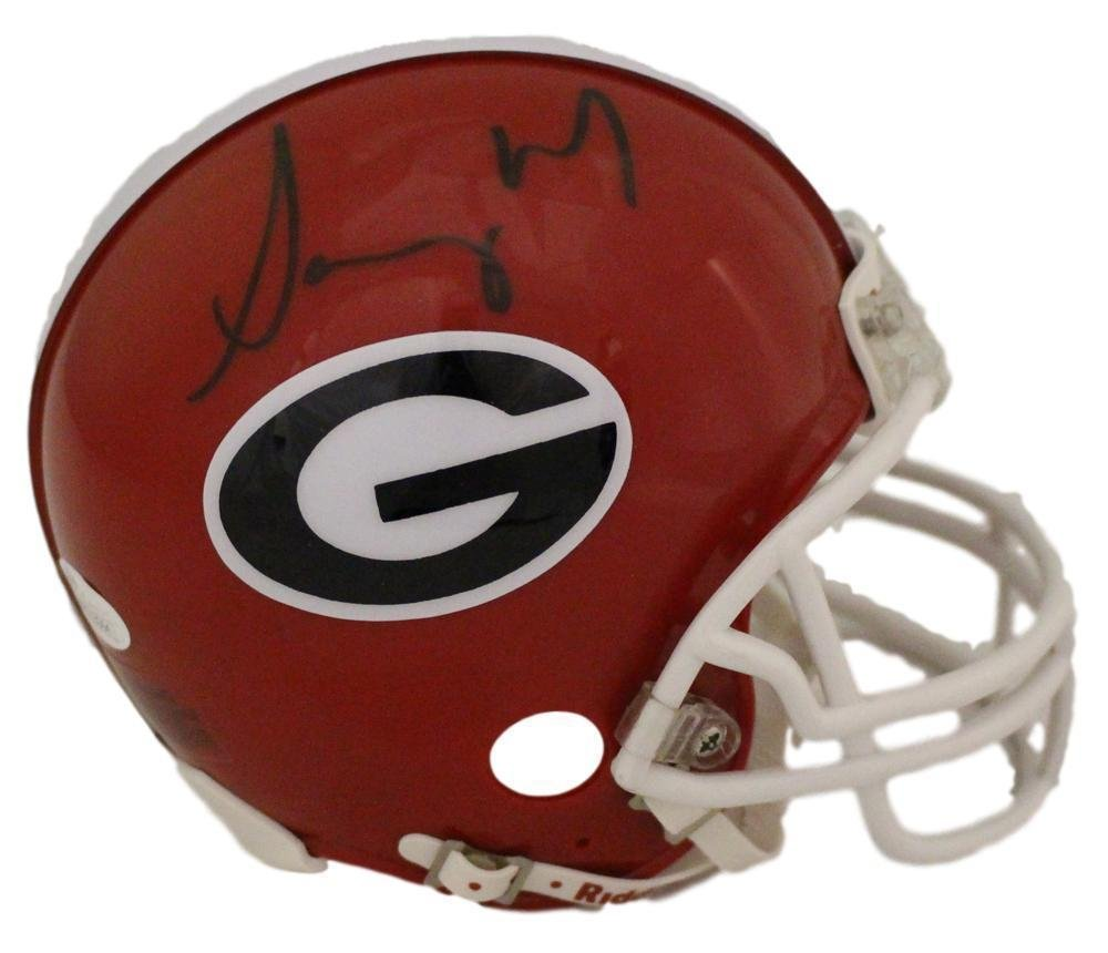 Sony Michel Autographed/Signed Georgia Bulldogs Mini Helmet 12959 - JSA Certified - Autographed College Mini Helmets Denver Autographs