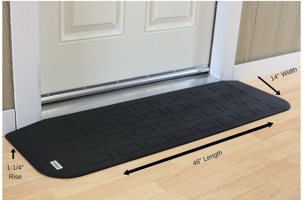 EZEdge Transition Threshold Ramp For a Door Sill, 1¼'' Rise, 1¼'' x 14'' x 46''