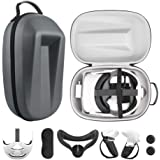 Esimen Travel Case for Oculus Quest 2 Halo Strap /Face Silicone Mask /Touch Controllers Grip Cover Strap , Includes…