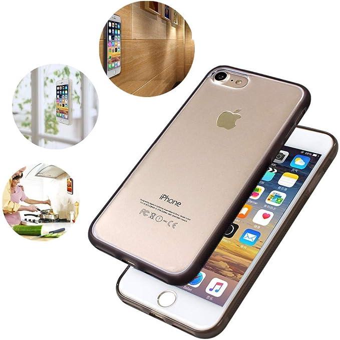Coque de protection antigravité pour iPhone X, 8 Plus, 7 Plus, Anti Gravity Coque de protection Anti Gravity Magique Transparent et Transparent - ...