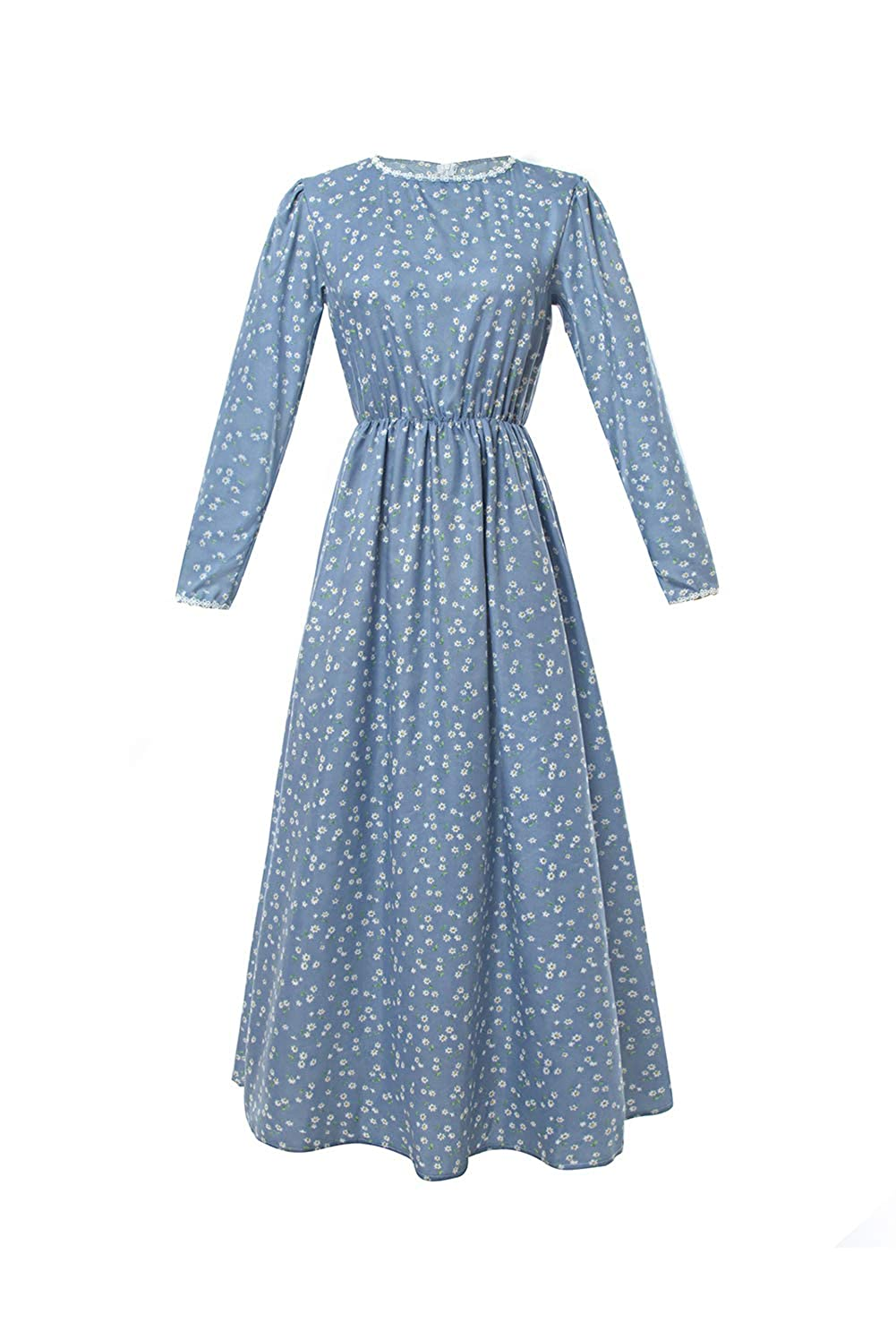 1900s, 1910s, WW1, Titanic Costumes 1890-1915 Pioneer Women Costume Floral Prairie Dress Deluxe Colonial Dress Laura Ingalls Costume $35.99 AT vintagedancer.com