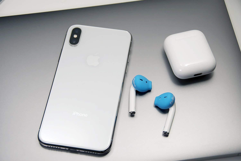 EarSkinz ES3 Covers Apple EarPods AirPods Jet Black
