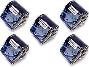 SOJITEK 3.25 in x 1476 Ft (83mm X 450m) - Thermal Transfer Wax-Resin Ribbons for Zebra Printers (1 in Core, Black, 5 Pack)
