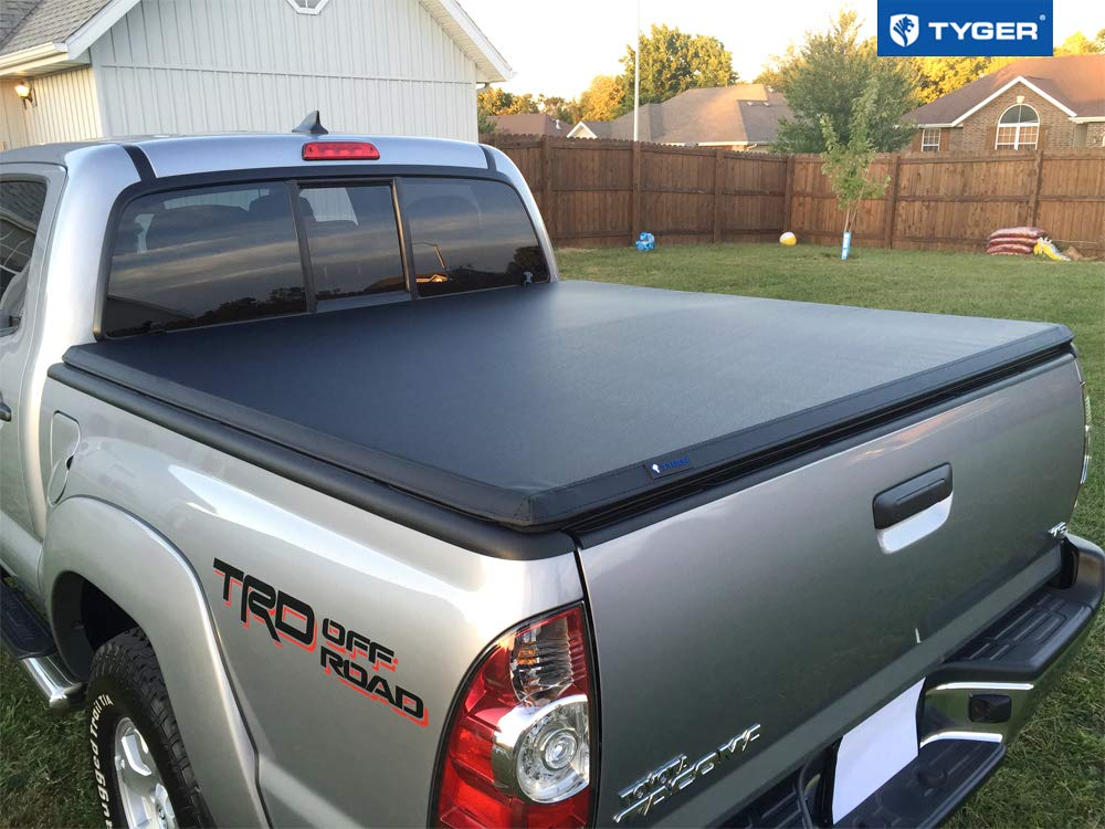 Fleetside 5 Bed Tyger Auto T3 Tri Fold Truck Bed Tonneau Cover Tg Bc3t1030 Works With 2005 2015 Toyota Tacoma For Models With Or Without The Deckrail System Automotive Exterior Accessories