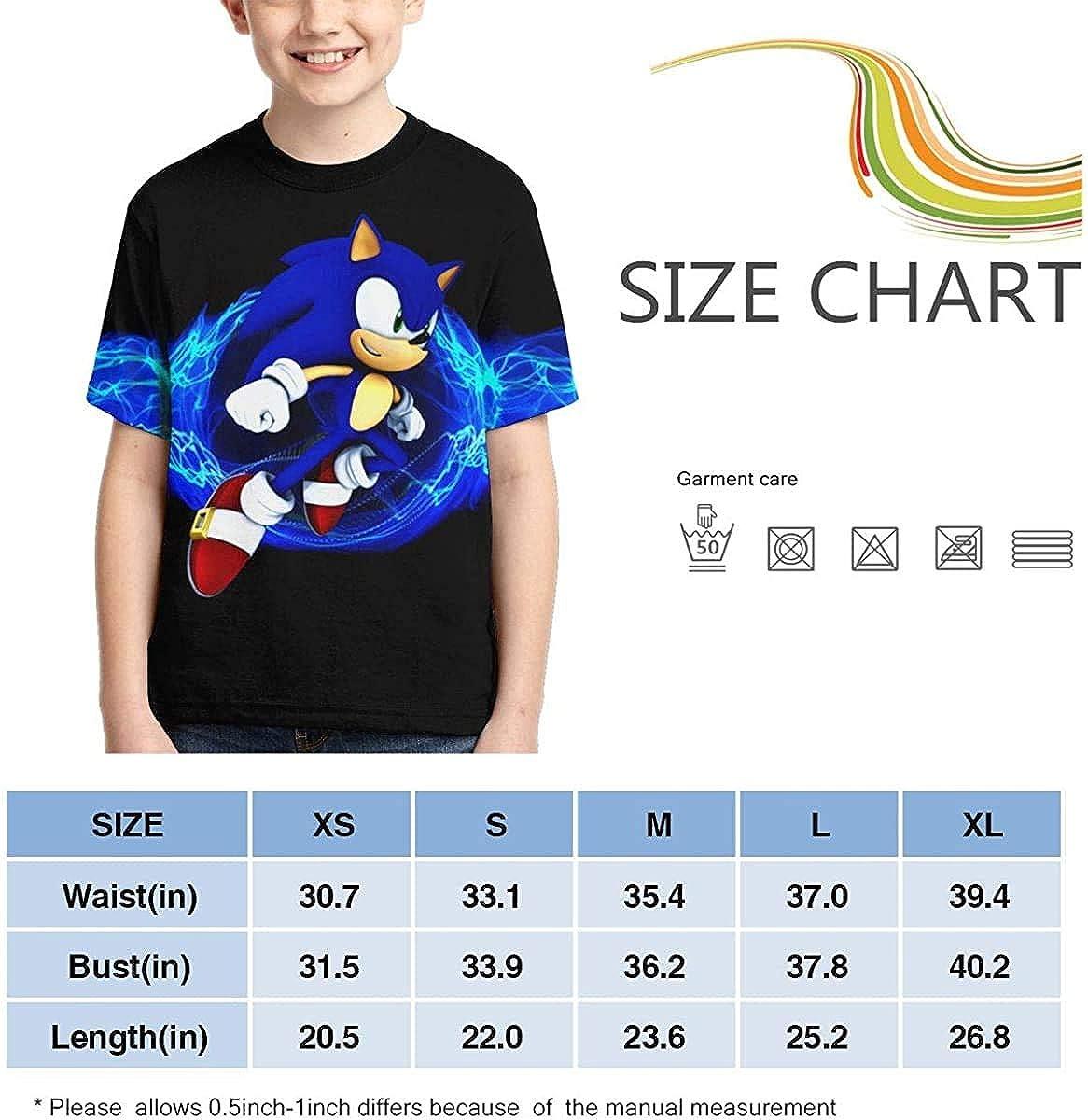 guoweiweiB T-Shirt Bambini e Ragazzi Sonic The Hedgehog Style Kids 3D Print Shirt Toddlers 100/% Polyester Cool T-Shirt