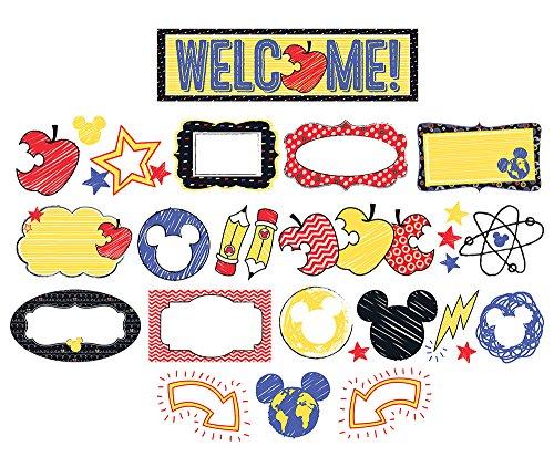 Eureka Disney Mickey Mouse Bulletin Board and Classroom Decoration Set, 6.5