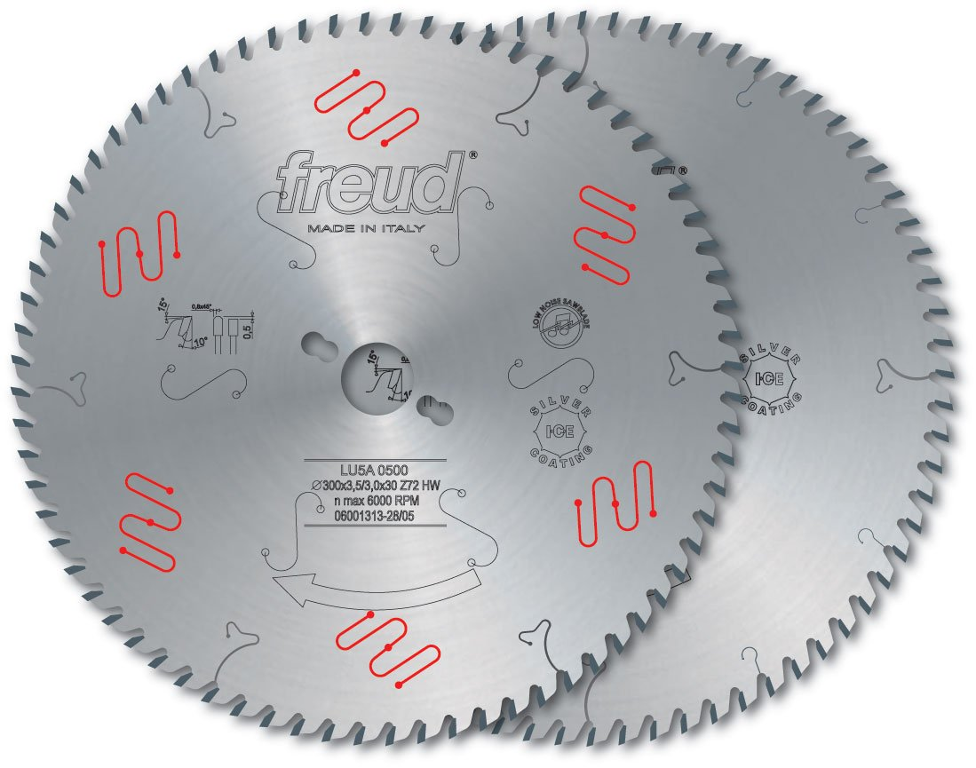 Freud LU5A24 450mm 108 Tooth Carbide Tipped Blade Ideal for Cutting Aluminum and Non-Ferrous Metals