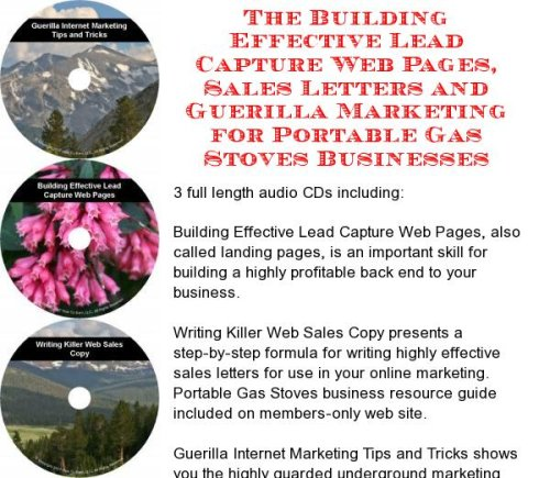The Guerilla Marketing, Building Effective Lead Capture Web Pages, Sales Letters for Portable Gas Stoves Businesses