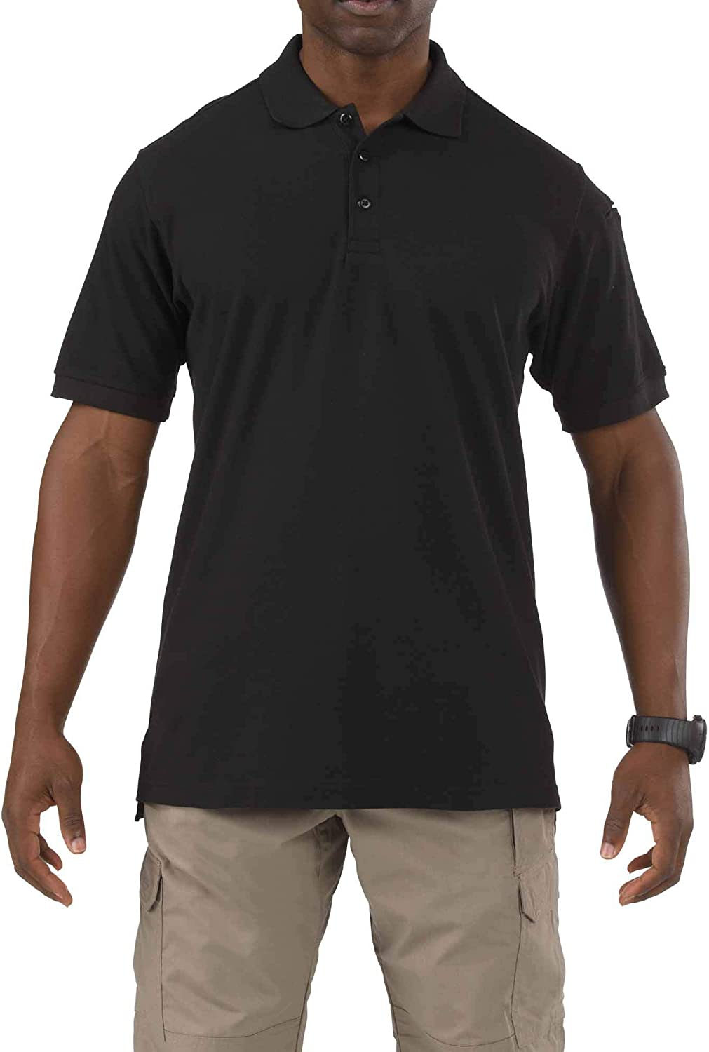 5.11 Tactical Men's Utility Short Sleeve Polo Shirt, Poly-Cotton Fabric, Wrinkle Resistant, Style 41180