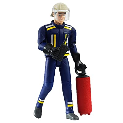 Bruder 60100 bworld Fireman with Accessories: Toys & Games