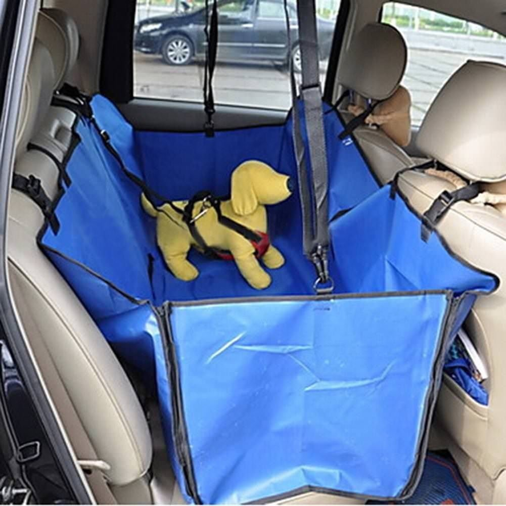 bluee Cibeat Waterproof Vehicle-Mounted Pet Car Back Seat Mat Soiling Resistant Cushion Seat Cover