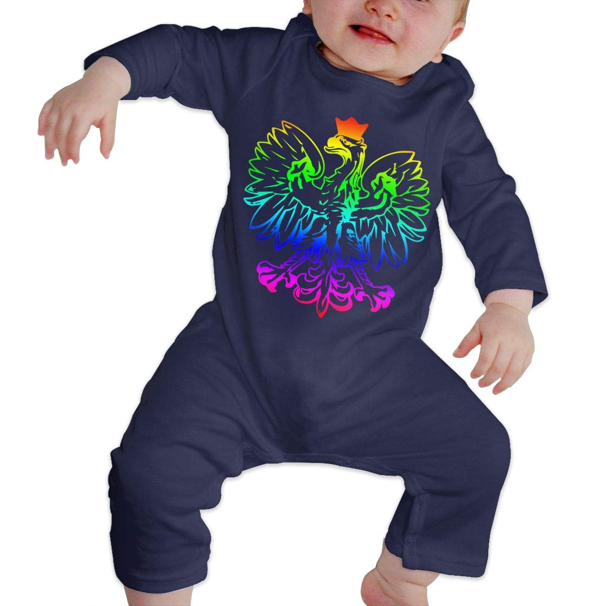 Mri-le1 Baby Girl Bodysuits Poland Pride-2 Infant Long Sleeve Romper Jumpsuit