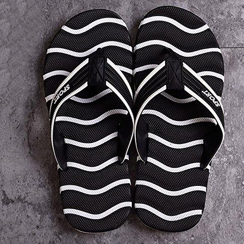 XIAOLIN Zapatillas de Pareja de Verano Zapatos de Playa para Hombres Clip Zapatos de Pie Marea de Hombres Verano antideslizante Zapatillas Cool Hombre de Gran Tamaño (Opcional) ( Color : 01 , Tamaño : 03
