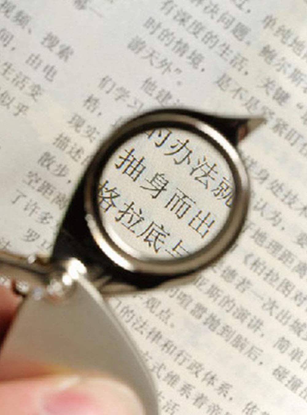Snowmanna-15x Foldable Pocket Eye Loupe Magnifier Magnifying Glass with Keychain for Coin Jewelry Diamond Jeweler Gem
