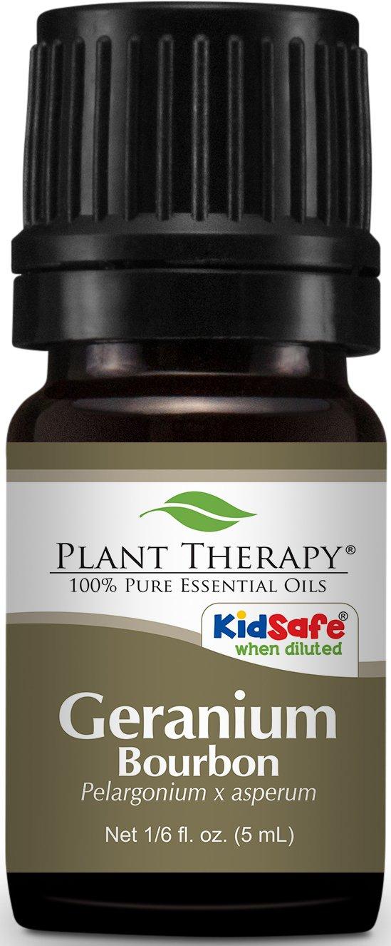 Plant Therapy Geranium Bourbon Essential Oil. 100% Pure, Undiluted, Therapeutic Grade. 5 ml (1/6 oz).
