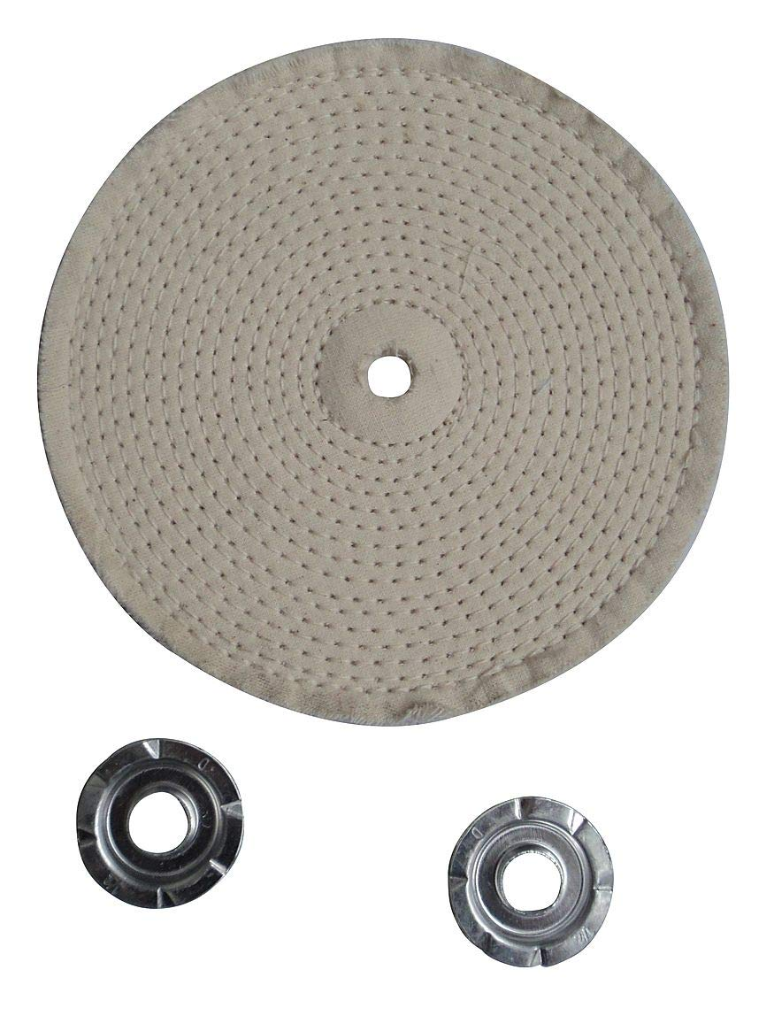 Buffing Wheel, Spiral Sewn, 8 In Dia. - 12U085 (Pack of 2)