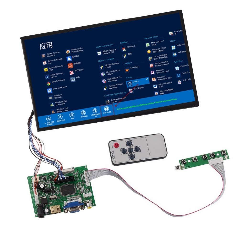 "10.1/"" 1024*600  LCD Display Monitor  HDMI+VGA+2AV Driver Board for Raspberry Pi"