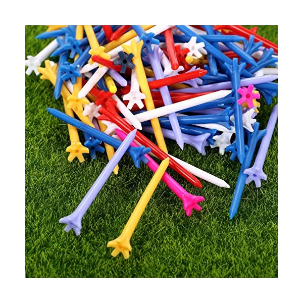 100Pcs-70mm-5-Prong-Golf-Tee-Zero-Friction-Plastic-Golfer-Golfing-Club-Hot