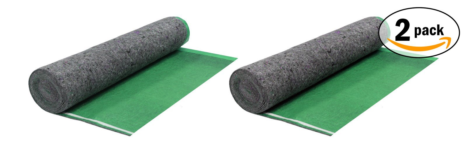 200SQFT 3.5MM AMERIQUE Super Quiet Walk Felt Underlayment Heavy Duty Padding with Vapor Barrier & Tape, Perfect for Hardwood, Bamboo, Floating Floors & Laminate, Bright Green, Pack of 2 by AMERIQUE (Image #5)
