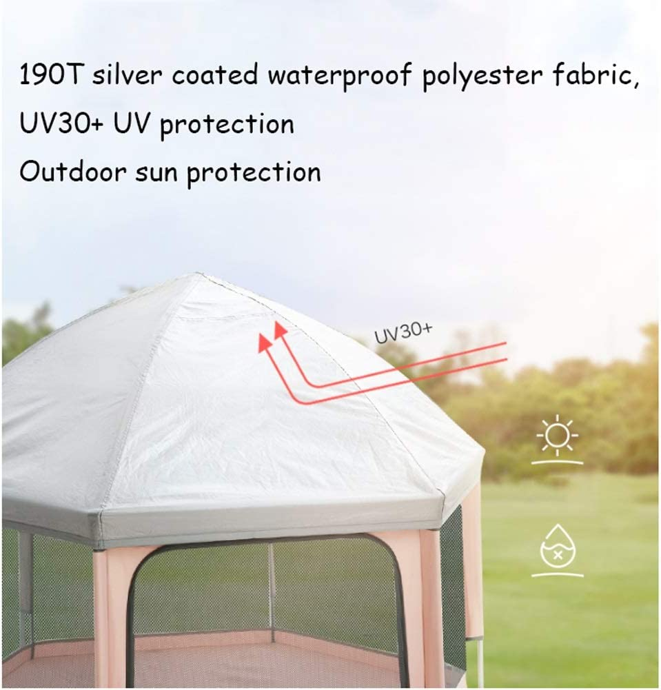 Color : Blue YQX Baby Fence Retractable Baby Playpen Travel Foldable and Portable Childrens Tent Indoor Outdoor Playground