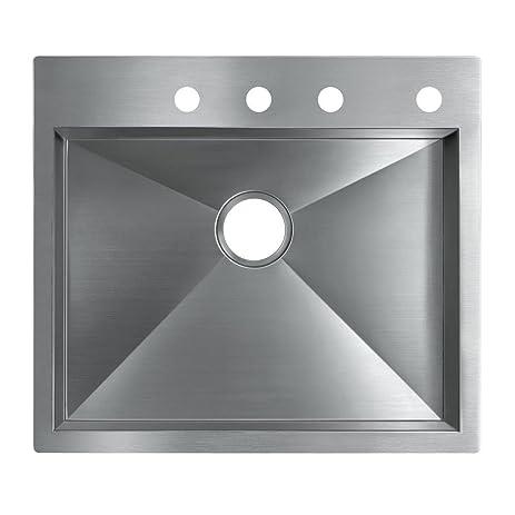 Elegant KOHLER K 3822 4 NA Vault Medium Single Kitchen Sink With Four