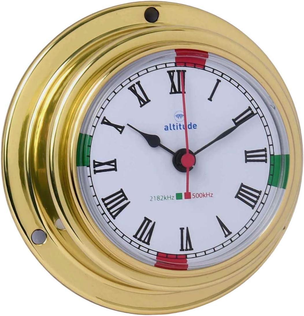 Delite 842c Altitude Reloj de navegación latón cromado, 95 mm x 40 mm