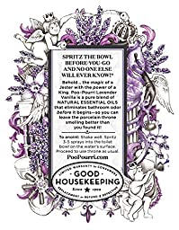 Poo-Pourri Preventive Bathroom Odor Spray 2-Piece Set, Includes 2-Ounce and 4-Ounce Bottle, Lavender Vanilla