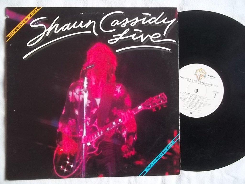 SHAUN CASSIDY Live Thats Rock n Roll vinyl LP: Shaun Cassidy ...