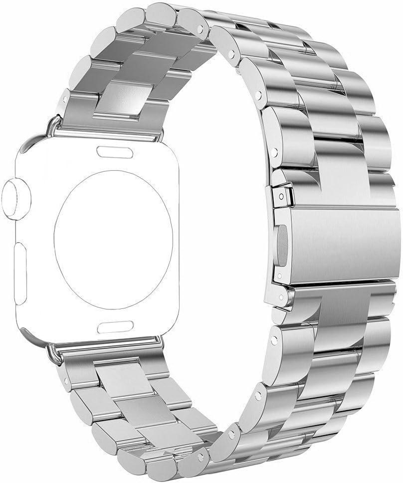 Rosa Schleife para Apple Watch Correa 38MM, Apple Watch Band Correa Acero Inoxidable Pulsera con Cierre de Metálica Pulsera de Repuesto Muñeca para los Apple Watch Deporte & Edición Modelos