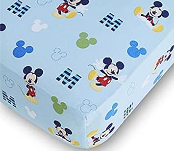 Disney Baby Mickey Mouse Fitted Crib Sheet Amazon Ca Baby