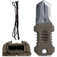 ULKEME Webbing Buckle Self Defence Multifunction outdoor survival tool EDC Mini Stainless Steel Pocket Knife Muddy