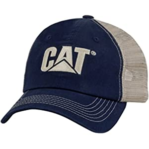 298d3675 Cat Orange Twill/Tan Mesh-CAT Hat at Amazon Men's Clothing store:
