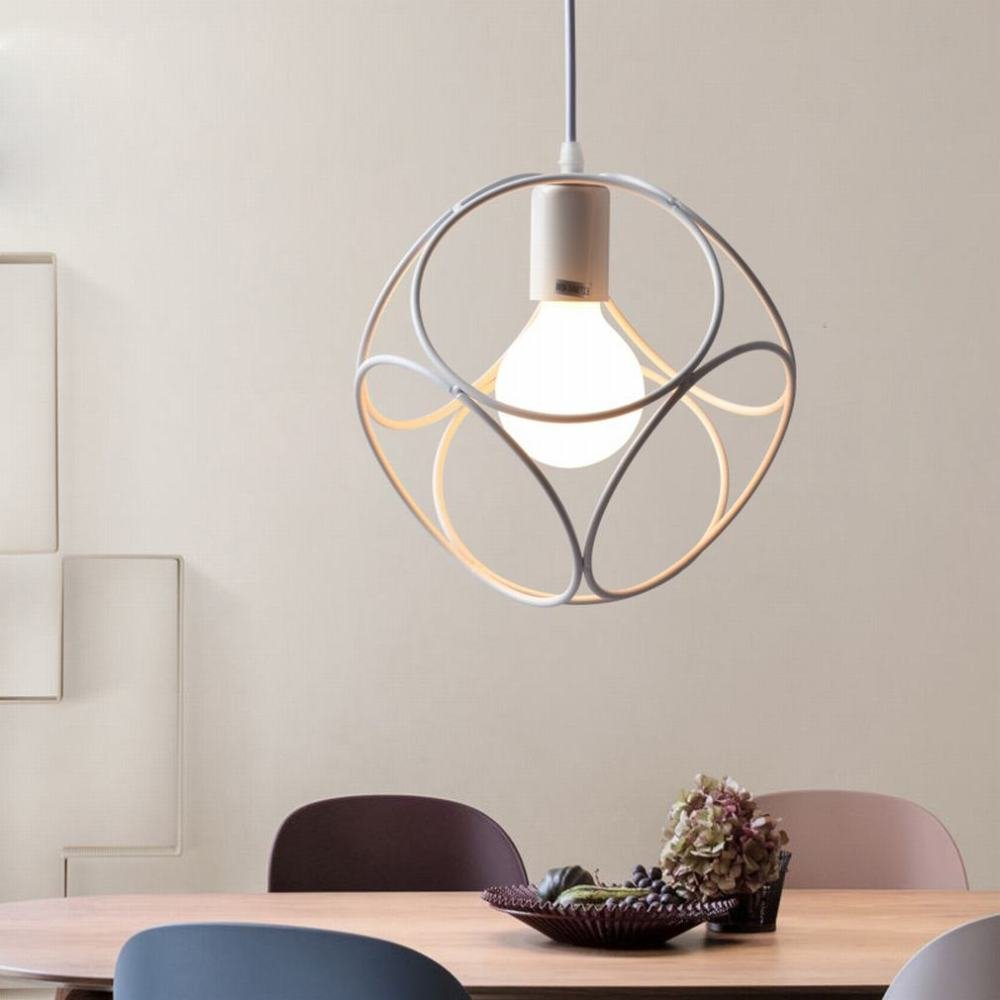 DEN Nordic Restaurant Chandelier Personality Creative Single Head Iron Bar Industrial Style Modern Simple Restaurant Light,A,24CM by DEN (Image #1)