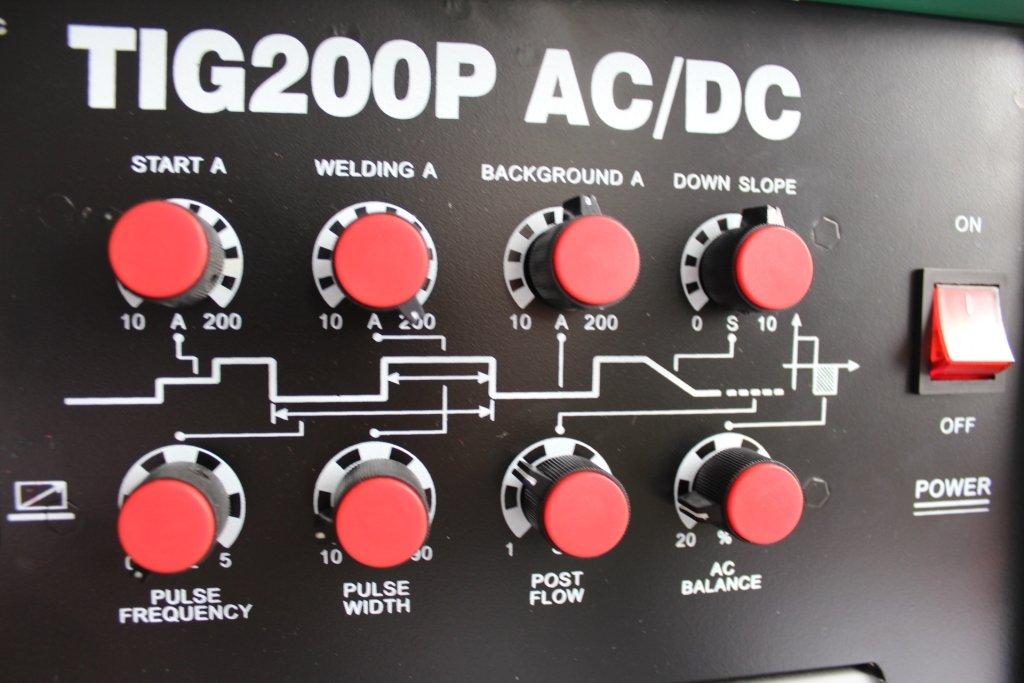 HST TIG WIG Schwei/ßger/ät AC DC MMA TIG 200 P Alu Puls 2//4 Takt HF Z/ünd Inverter