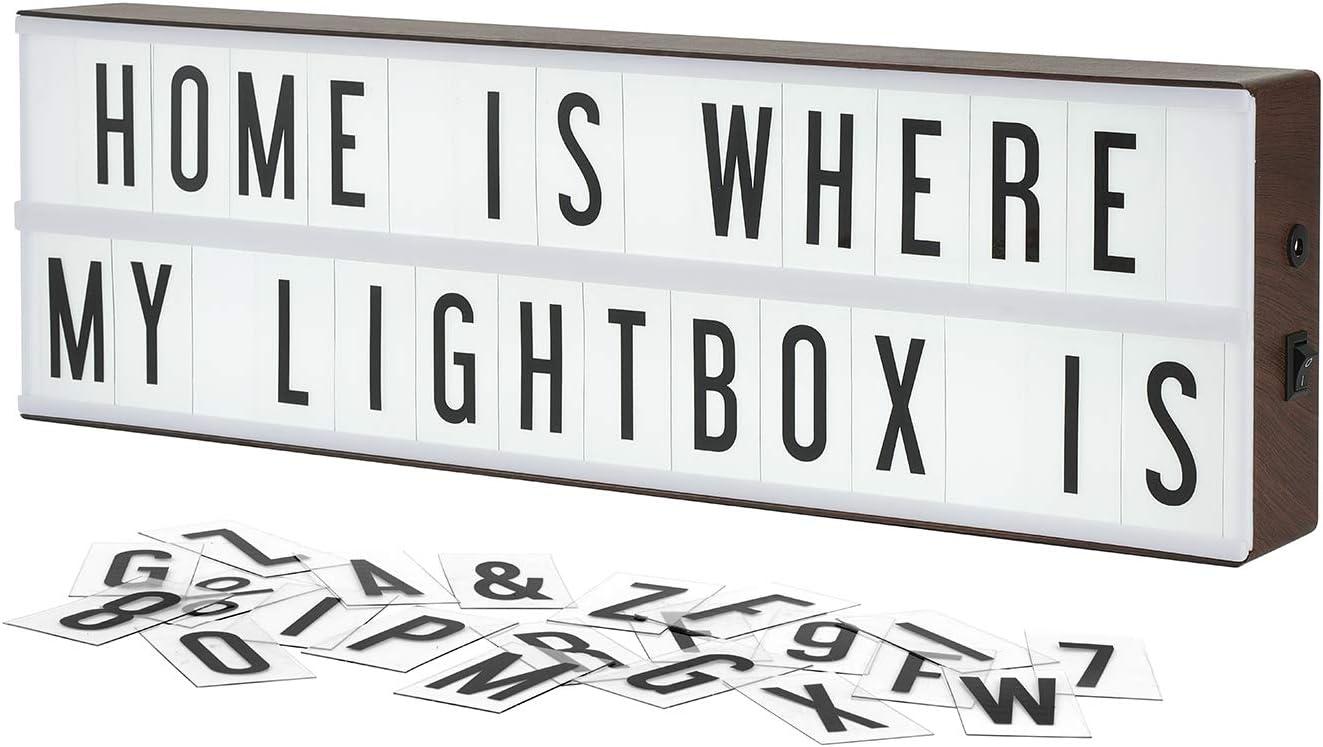 hogar Photoshoots fiesta de cumplea/ños Cine Lightbox A6 caja de luz cinematogr/áfica con 90 letras Combinaci/ón libre para la boda