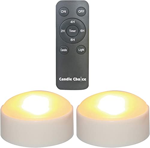 CANDLE CHOICE Set of 2 Remote Controlled Plastic LED Flameless Battery-Operated Pumpkin Lights Small, 3 D x 2 H