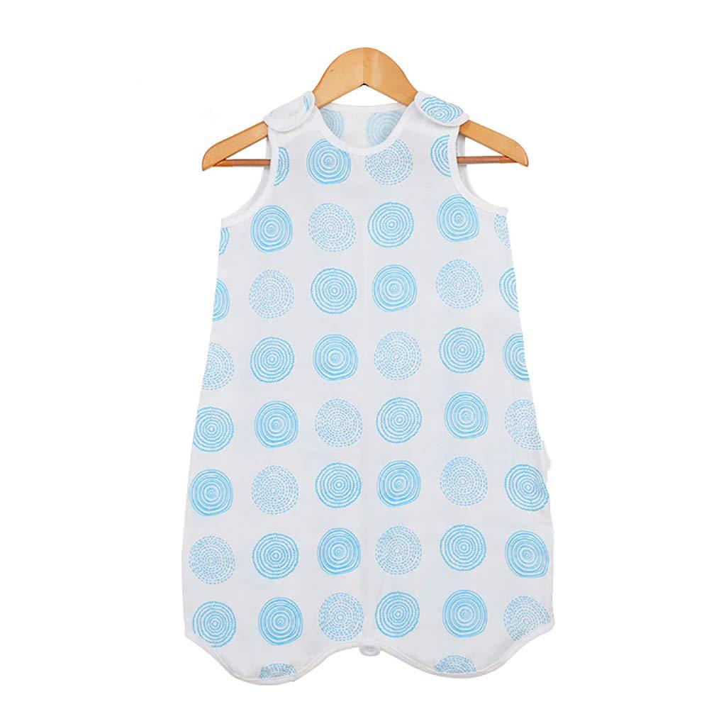 Sanyouletoo Gigoteuse en coton Gaze Pyjamas Printemps et /ét/é Klimatis/ée Couverture pour enfant Veste de couchage Sac de couchage Sac de voyage bleu bleu 70 cm