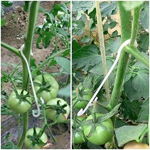 100 pcs Tomate apoyo J ganchos Tomate Planta apoyo Binder Clips de ...