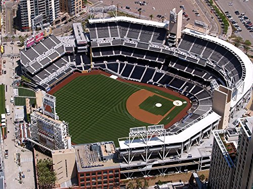 (Peel-n-Stick Poster of California Aerial View San Diego Petco Ball Park Poster 24x16 Adhesive Sticker Poster Print)