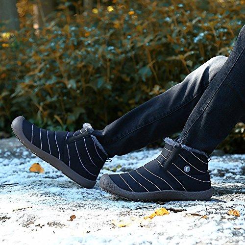 Maybest Unisex Lente Warm Wandelen Snowboots Schoenen Slip Op Horizon Laag Waterdicht Outdoor Trekking Wandelen Lichtgewicht Voor Vrouwen Mannen Een Zwart