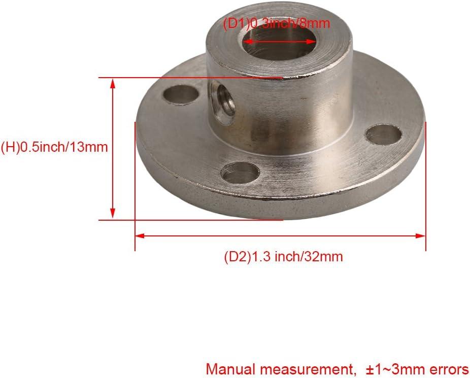 Kupplung Schaftst/ütze Sitzf/ührung Innendurchmesser 8 mm Flansch Au/ßendurchmesser 16 mm RDEXP 2 St/ück Flanschwelle