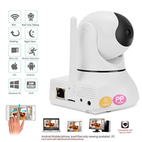 IdeaNext Baby Monitor 1.3MP High Definition 720P Pan/Tilt Ip ...
