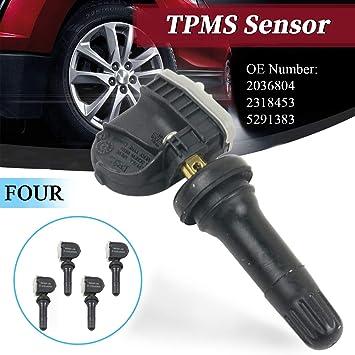 Adpt Tpms 2036804 2318453 Tyre Pressure Valve Sensor 5291383 Pack Of 4 Auto