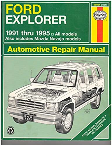 ford explorer mazda navajo automotive repair manual all ford rh amazon com ford explorer 1991 thru 2001 haynes repair manual ford explorer 1991 thru 2001 haynes repair manual